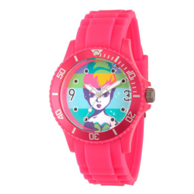 jcpenney.com | Disney Tinker Bell Womens Pink Strap Watch-Wds000064