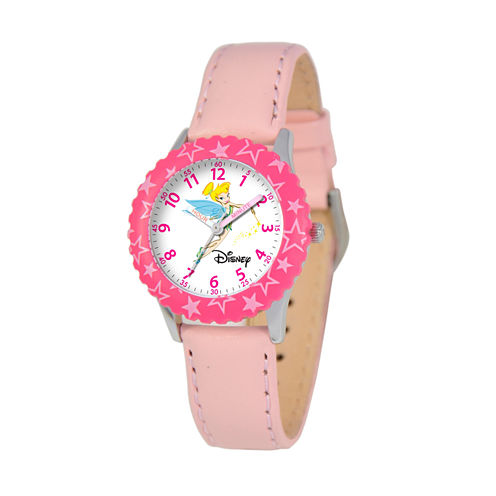 Disney Tinker Bell Girls Pink Strap Watch-W000067