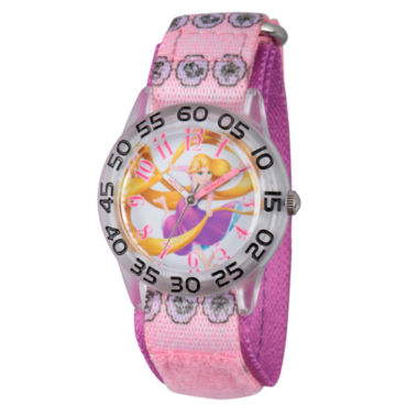 jcpenney.com | Disney Tangled Girls Pink Strap Watch-W002958