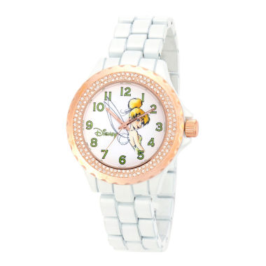 jcpenney.com | Disney Tinker Bell Womens White Bracelet Watch-W001636