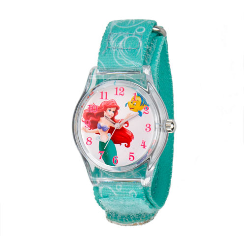 Disney The Little Mermaid Girls Blue Strap Watch-W001700