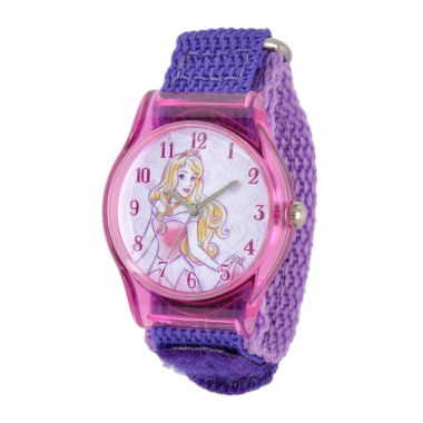 jcpenney.com | Disney Sleeping Beauty Girls Purple Strap Watch-W001703