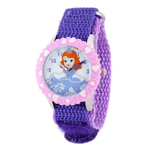 Disney Sofia The First Girls Purple Strap Watch-W001938