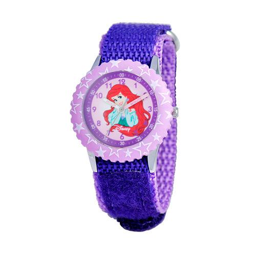Disney The Little Mermaid Girls Purple Strap Watch-W000963