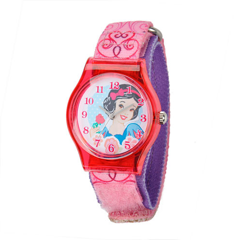 Disney Snow White Girls Pink Strap Watch-W001966