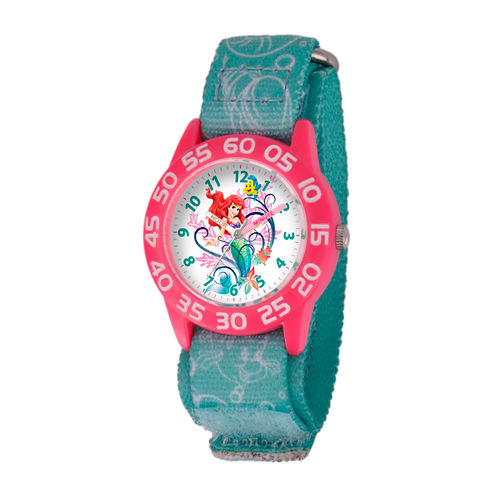 Disney The Little Mermaid Girls Blue Strap Watch-W001190