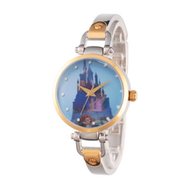jcpenney.com | Disney Princess Castle Womens Two Tone Watch-Wds000071