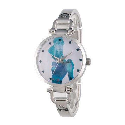 Disney Cinderella Womens Silver Tone Bracelet Watch-Wds000073