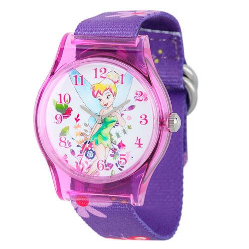 Disney Tinker Bell Girls Purple Strap Watch-W001968