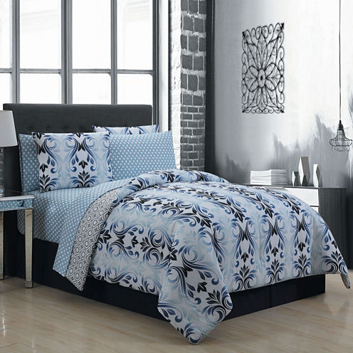 Avondale Manor Sinclair 8pc Complete Bedding Set with Sheets
