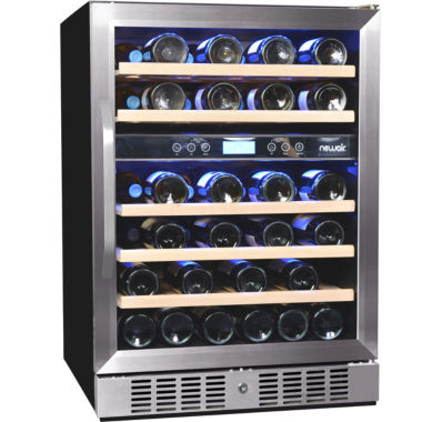 jcpenney.com | NewAir AWR-460DB Dual Zone 46 Bottle Wine Cooler