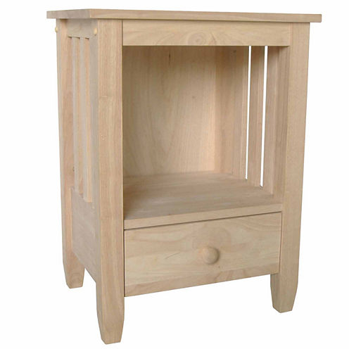 Mission Tall 1-Drawer End Table