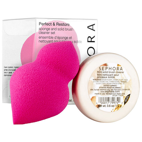 SEPHORA COLLECTION Perfect & Restore Sponge And Solid Brush Cleaner Set