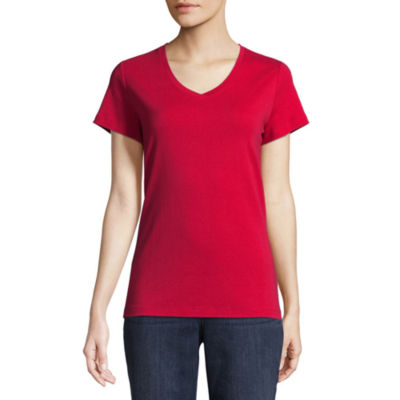 d2a8ee19 St Johns Bay Short Sleeve V Neck T Shirt Womens JCPenney