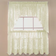 jcp home™ Shari Lace Rod-Pocket Shaped Valance