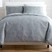 Royal Velvet® Damask Duvet Cover Set