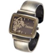 Decree® Floral Bangle Watch
