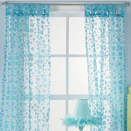 Polka Dot Swirl Window Coverings