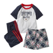 Carter's® 3-pc. Baseball Pajama Set - Boys 12m-24m
