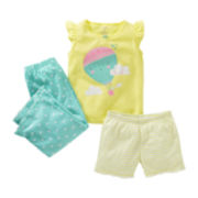 Carter's® 3-pc. Hot Air Balloon Pajamas - Girls 12m-24m