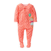 Carter's® Monkey & Balloon Footed Pajamas - Girls 12m-24m