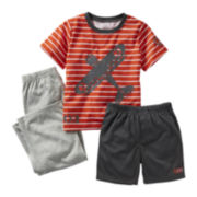Carter's® 3-pc. Airplane Pajama Set - Boys 2t-5t
