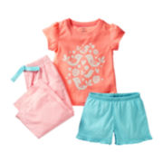 Carter's® 3-pc. Bird Pajamas - Girls 2t-5t