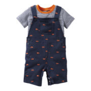Carter's® 2-pc. Car Shortall Set - Boys newborn-24m