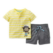 Carter's® 2-pc. Monkey Short Set - Boys newborn-24m