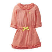 Carter's® ¾-Sleeve Ruffled Dress - Girls 2t-4t