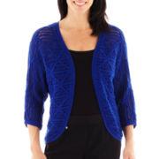 Lark Lane® Geometric Chic Open-Front Cardigan Sweater