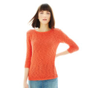 Joe Fresh™ Scoopneck Slub-Knit Sweater