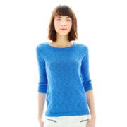 Joe Fresh™ Scoopneck Slub-Knit Sweater