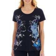 St. John's Bay® Graphic Short-Sleeve Tee - Plus