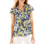 Liz Claiborne® Raglan-Sleeve Woven Blouse - Tall