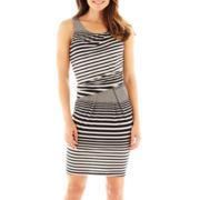 Worthington® Sleeveless Side-Ruched Sheath Dress