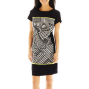 R&K Originals® Side-Tie Knit Sheath Dress