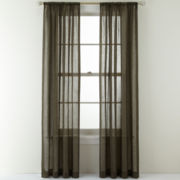 Royal Velvet® Crushed Voile Rod-Pocket Curtain Panel