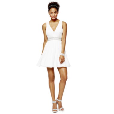 jcpenney.com | Jeweled-Waist Dress, Ankle-Strap Heels or Rhinestone Bracelets