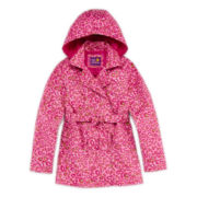 Pink Platinum Leopard-Print Trench Coat – Girls 7-16