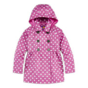 Pink Platinum Polka Dot Trench Coat - Preschool Girls 4-6x