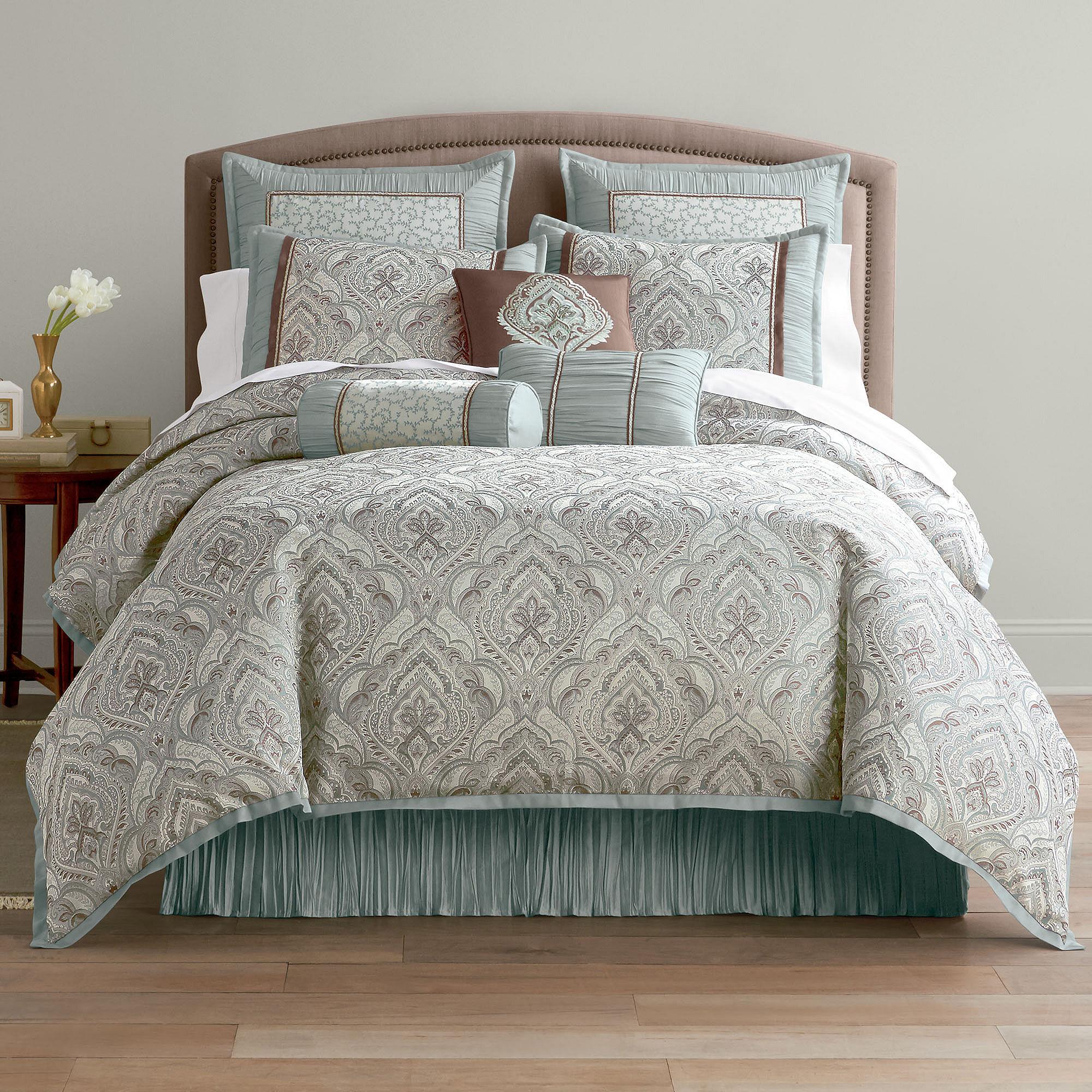 Get intelligent design sydney damask comforter set offer for Bedroom expressions