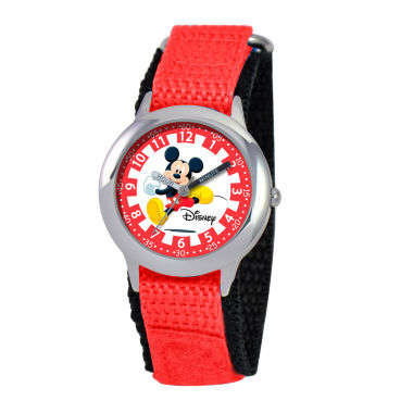 jcpenney.com | Disney Mickey Mouse Boys Red Strap Watch-W000018