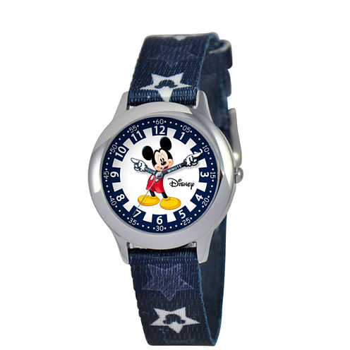 Disney Mickey Mouse Boys Blue Strap Watch-W000244