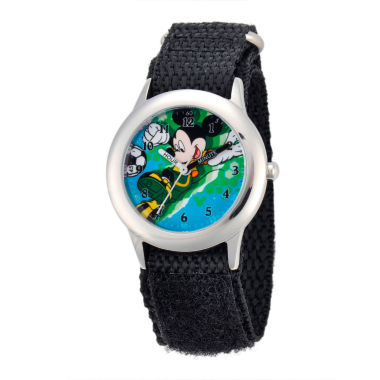 jcpenney.com | Disney Mickey Mouse Boys Black Strap Watch-W001572