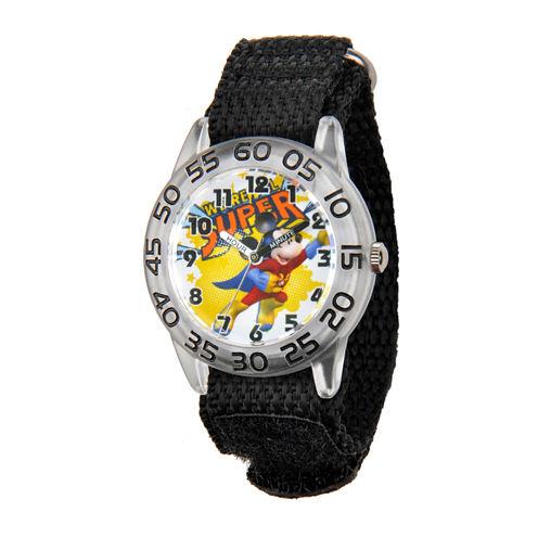 Disney Mickey Mouse Boys Black Strap Watch-W001653