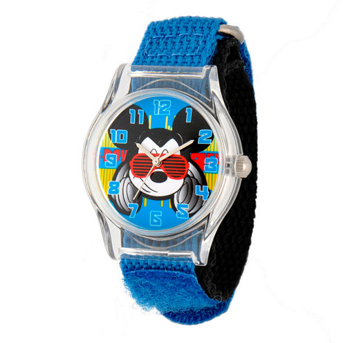 Disney Mickey Mouse Boys Blue Strap Watch-W001690