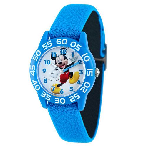 Disney Mickey Mouse Boys Blue Strap Watch-W001943