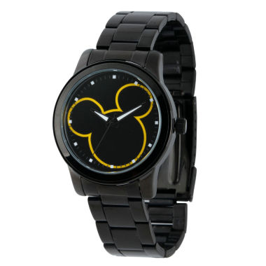 jcpenney.com | Disney Mickey Mouse Mens Black Bracelet Watch-W001989