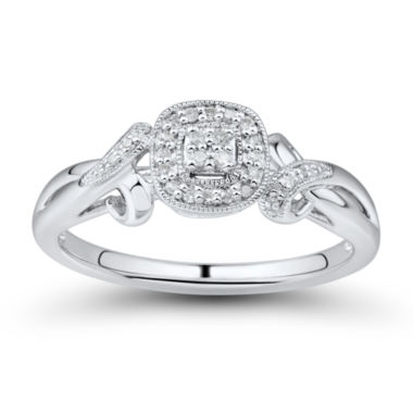 jcpenney.com | Womens 1/10 CT. T.W. Round White Diamond 10K Engagement Ring